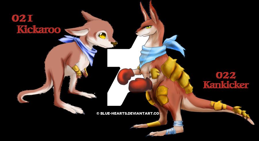 Kangaroo clipart kick. Fakemon kickboxers by blue