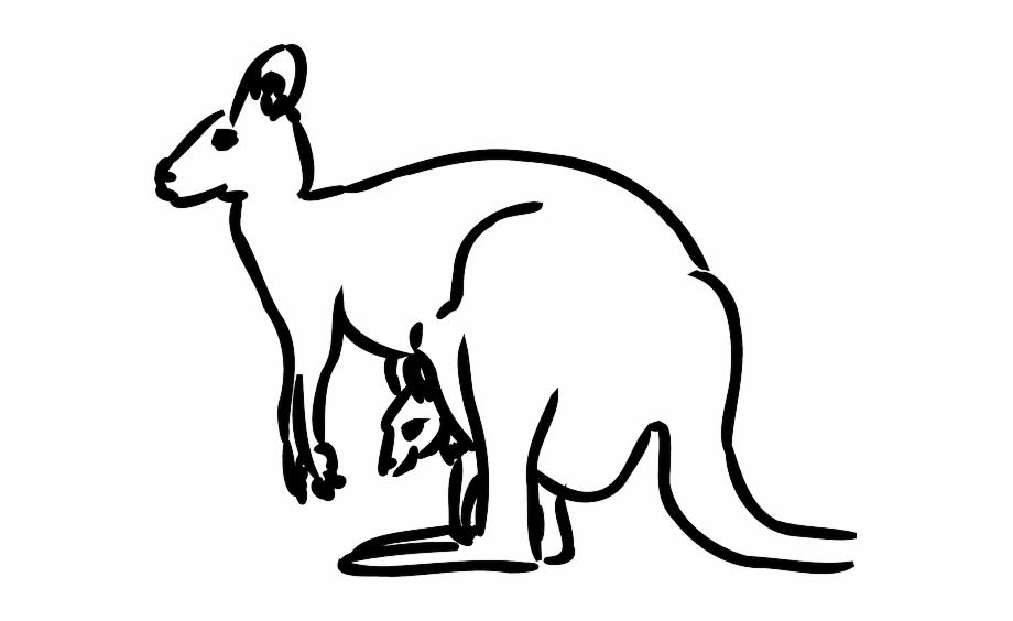 Kangaroo clipart mammal. Australia baby animal jumping