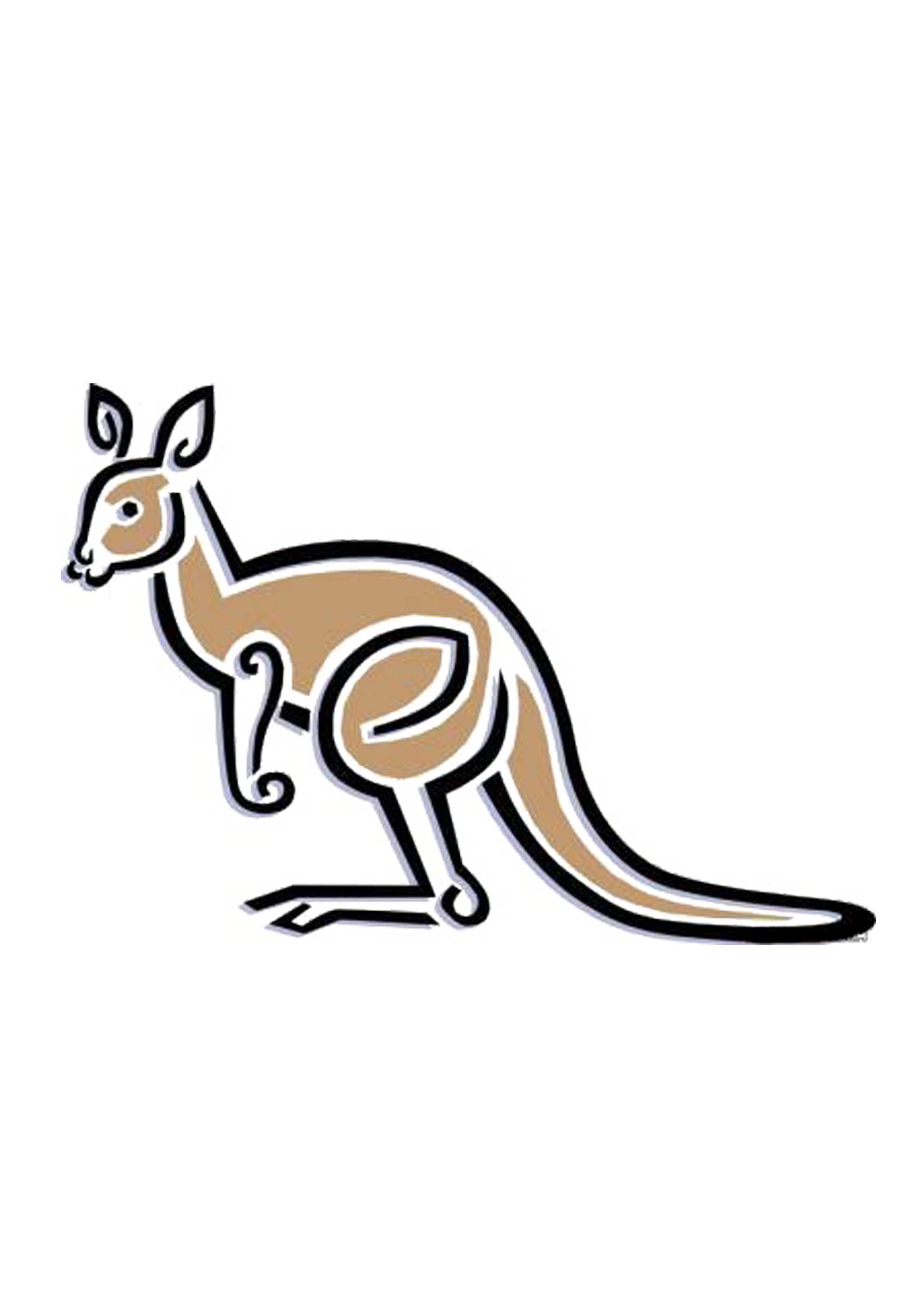 Mathematical clip art simple. Kangaroo clipart mammal