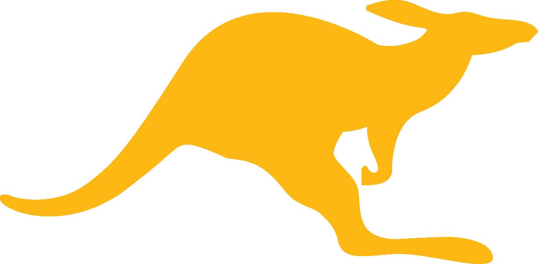 Kangaroo clipart mascot. Media kit gold eps
