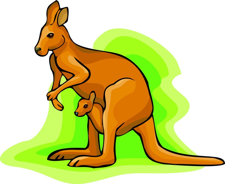 Kangaroo clipart mother kangaroo. Free cliparts download clip