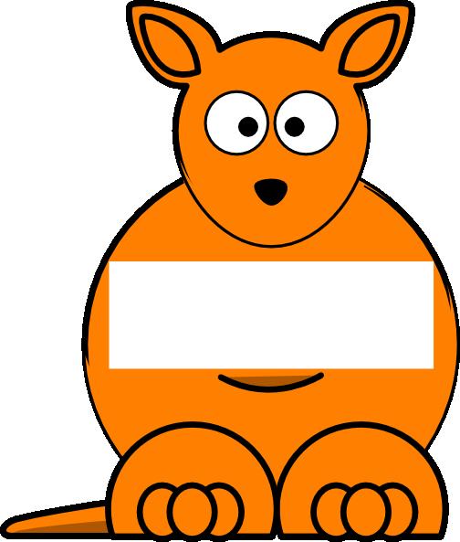 Kangaroo clipart orange. Sightword clip art at