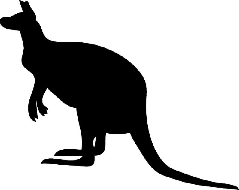 Silhouette at getdrawings com. Kangaroo clipart person australia