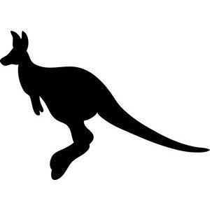 Free clip art image. Kangaroo clipart silhouette