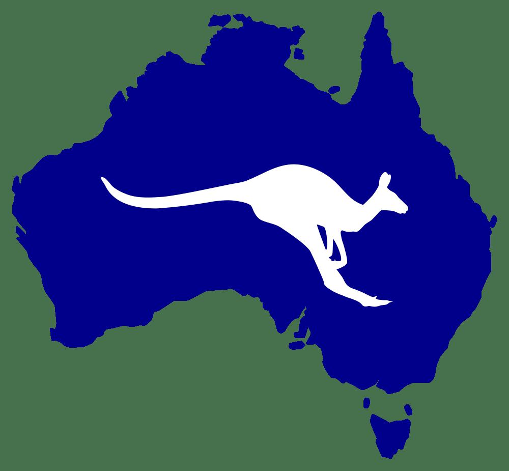 Kangaroo clipart silhouette. Australia with rooweb