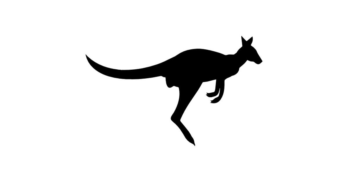Kangaroo clipart silhouette. At getdrawings com free