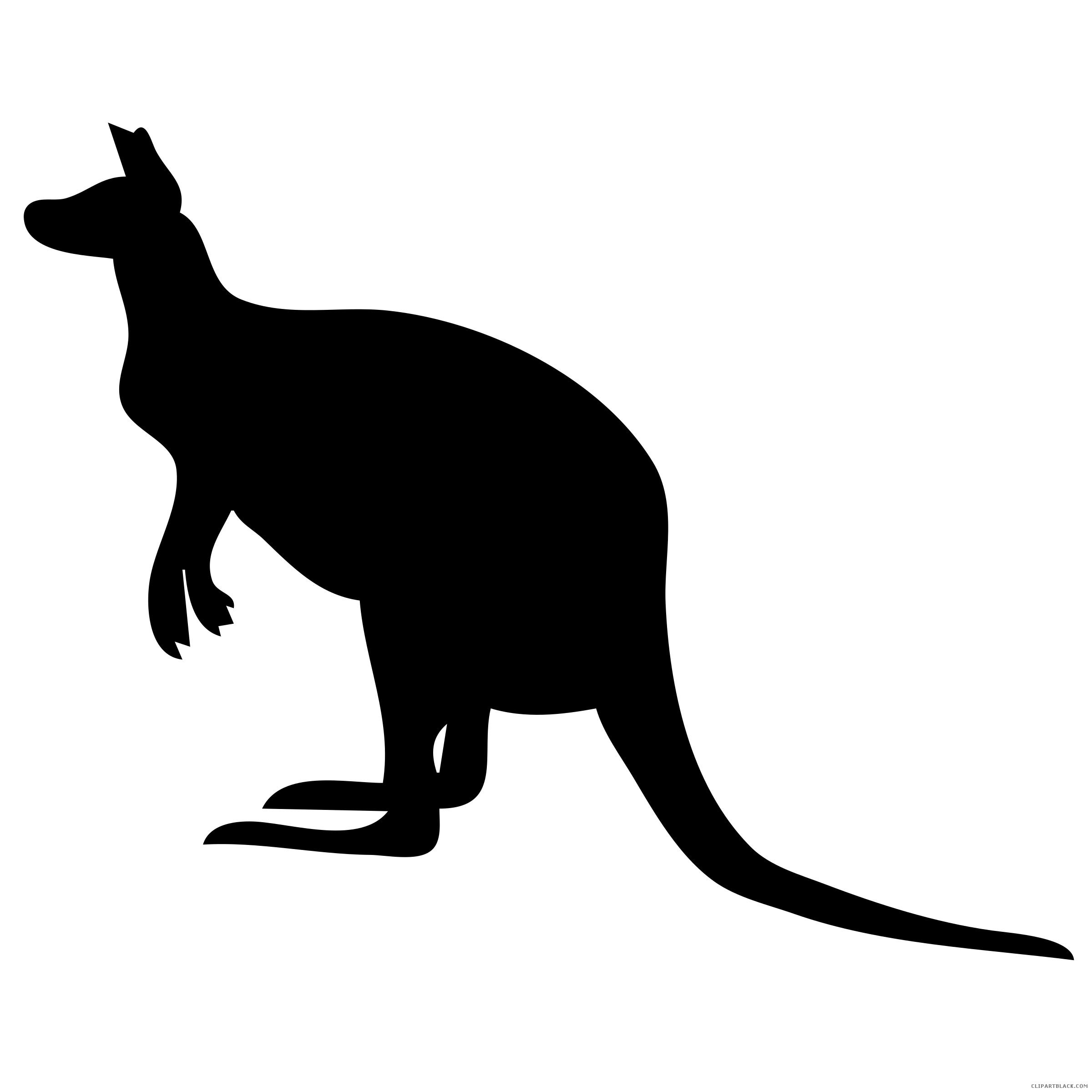Clipartblack com animal free. Kangaroo clipart silhouette