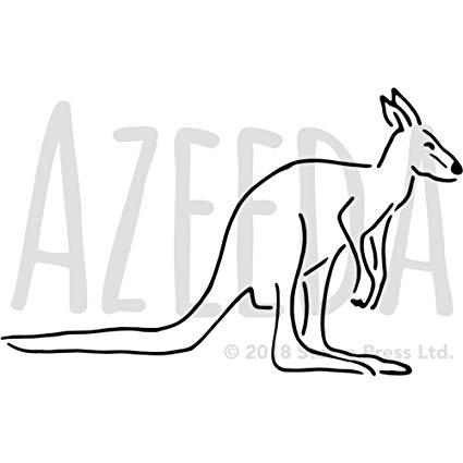 Kangaroo clipart stencil. Amazon com azeeda a