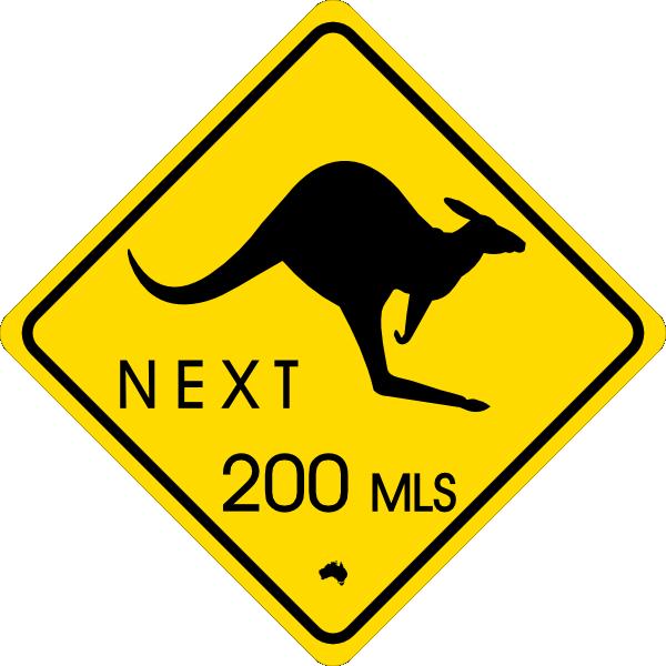 Kangaroo clipart stencil. Traffic sign clip art