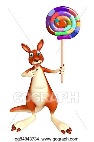 Stock illustration fun cartoon. Kangaroo clipart toon