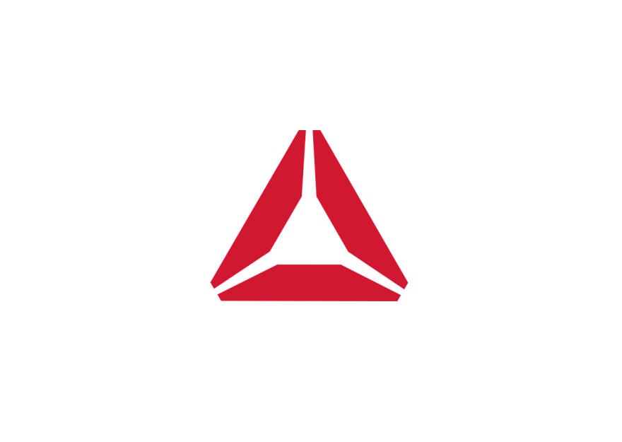 Red triangle with white. Name clipart real