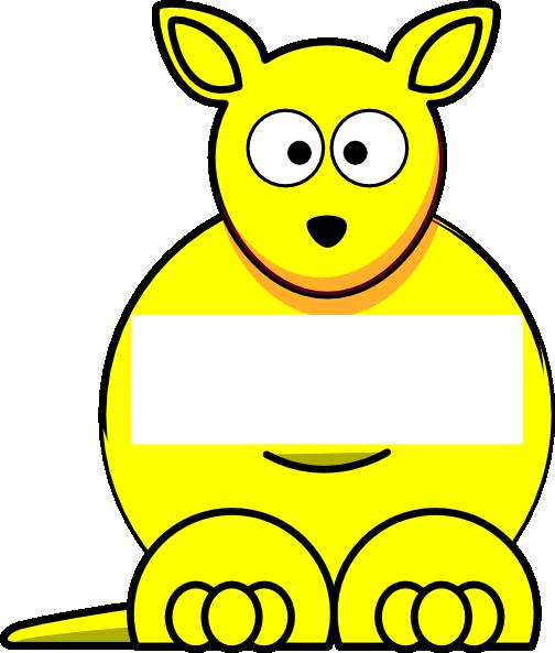 Kangaroo clipart yellow. Sightword clip art at