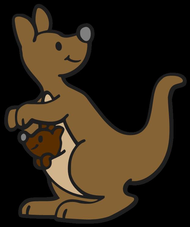 Kangaroo clipart zoo animal. Beanie s tag you