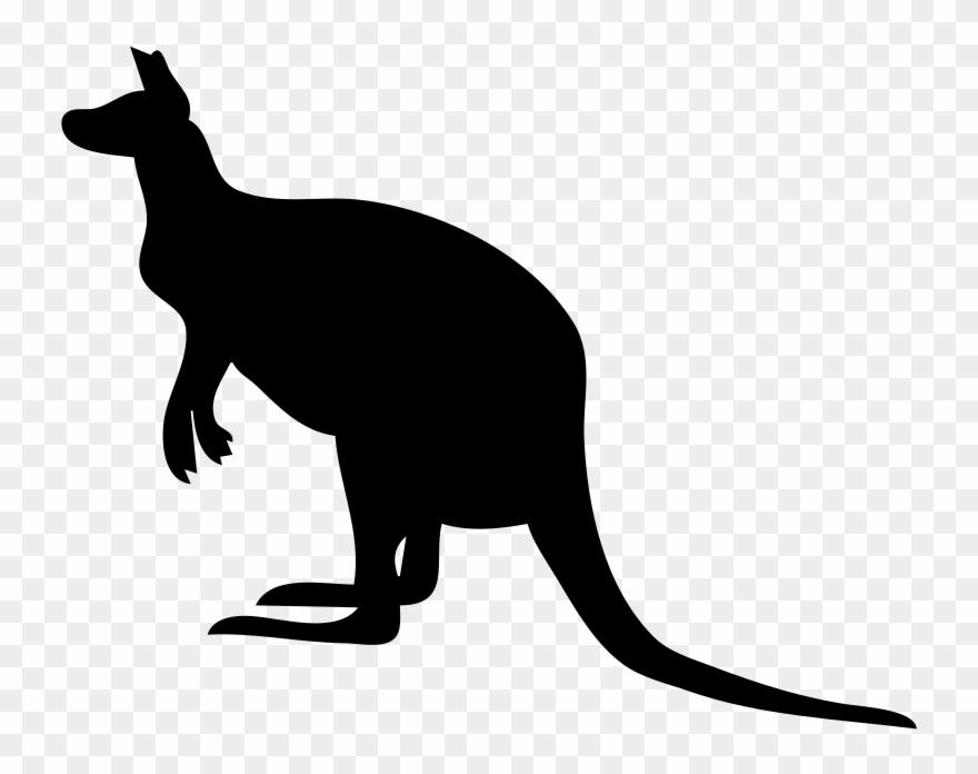 Joey silhouette cat . Kangaroo clipart zoo animal