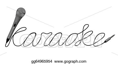 Drawing microphone for gg. Karaoke clipart