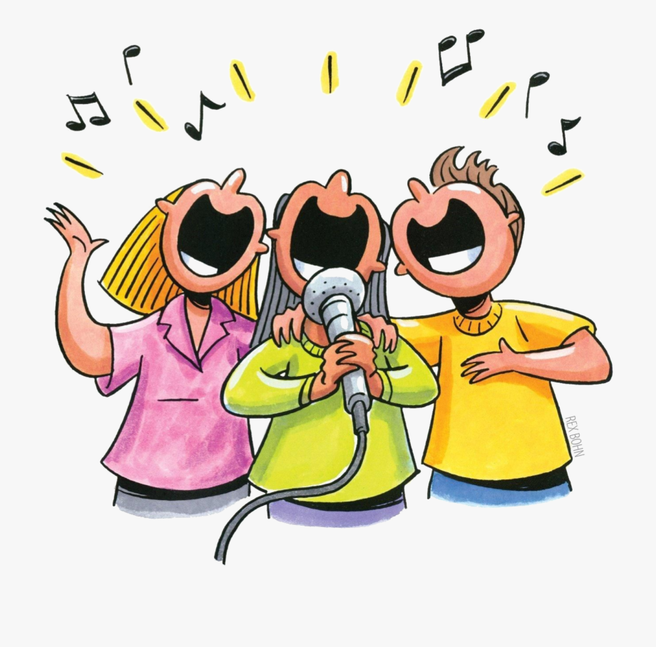 It is happening sing. Singer clipart animated