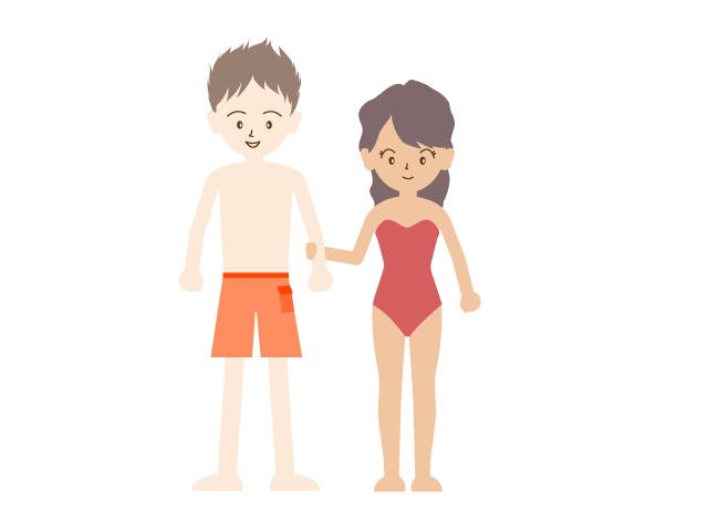 Free people material illustration. Young clipart dating couple