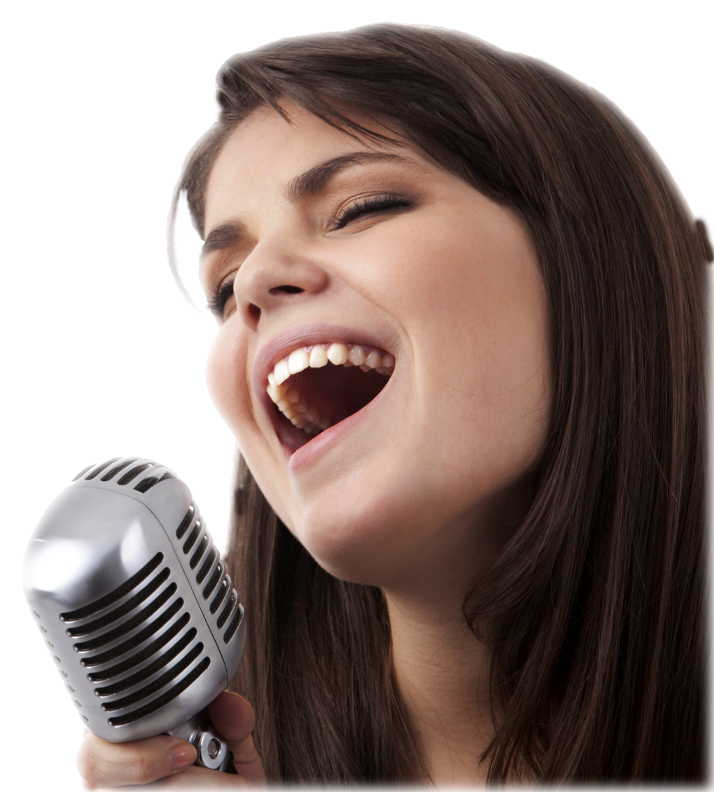 Singer clipart female singer. Singing png transparent image