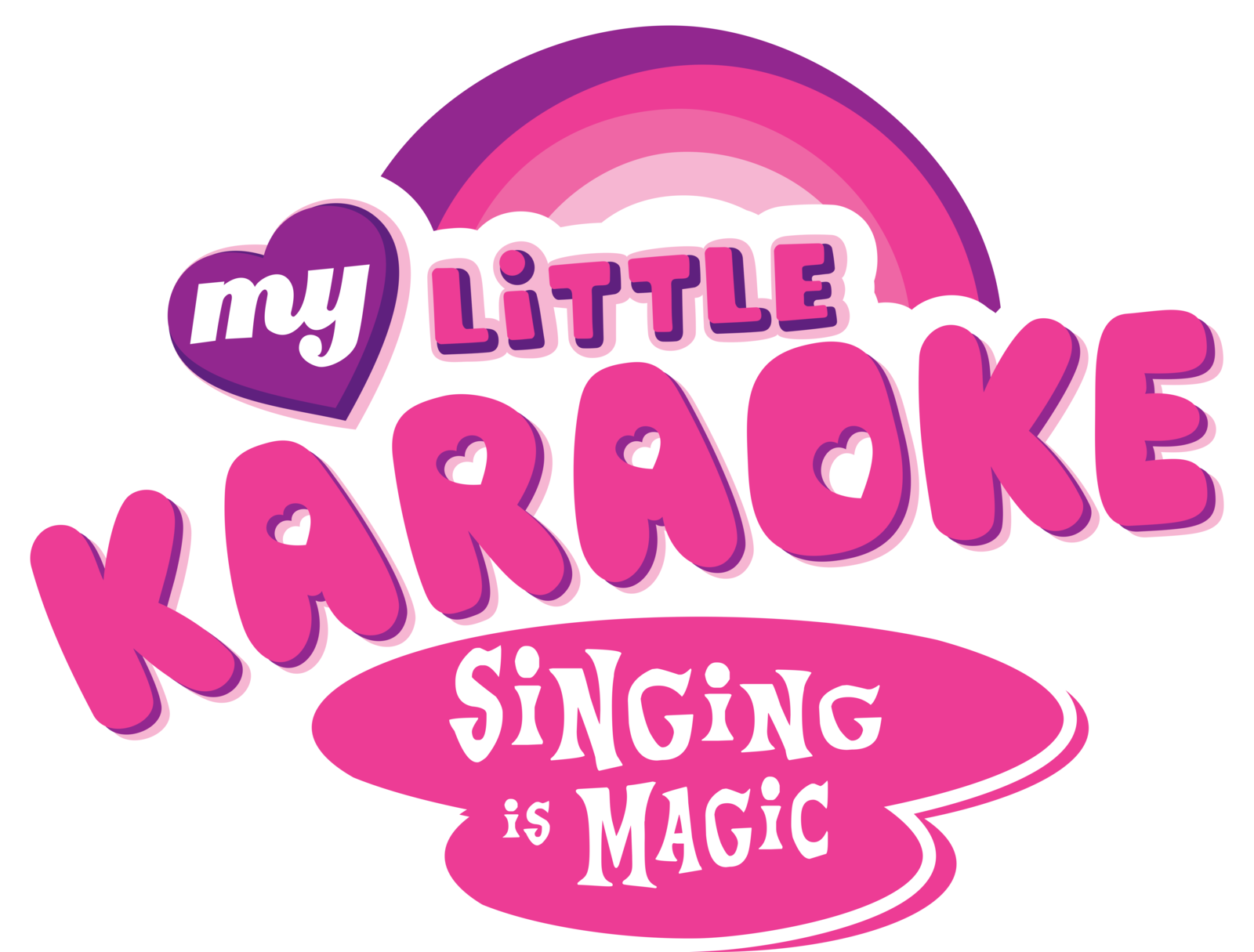 My little pony logos. Karaoke clipart logo