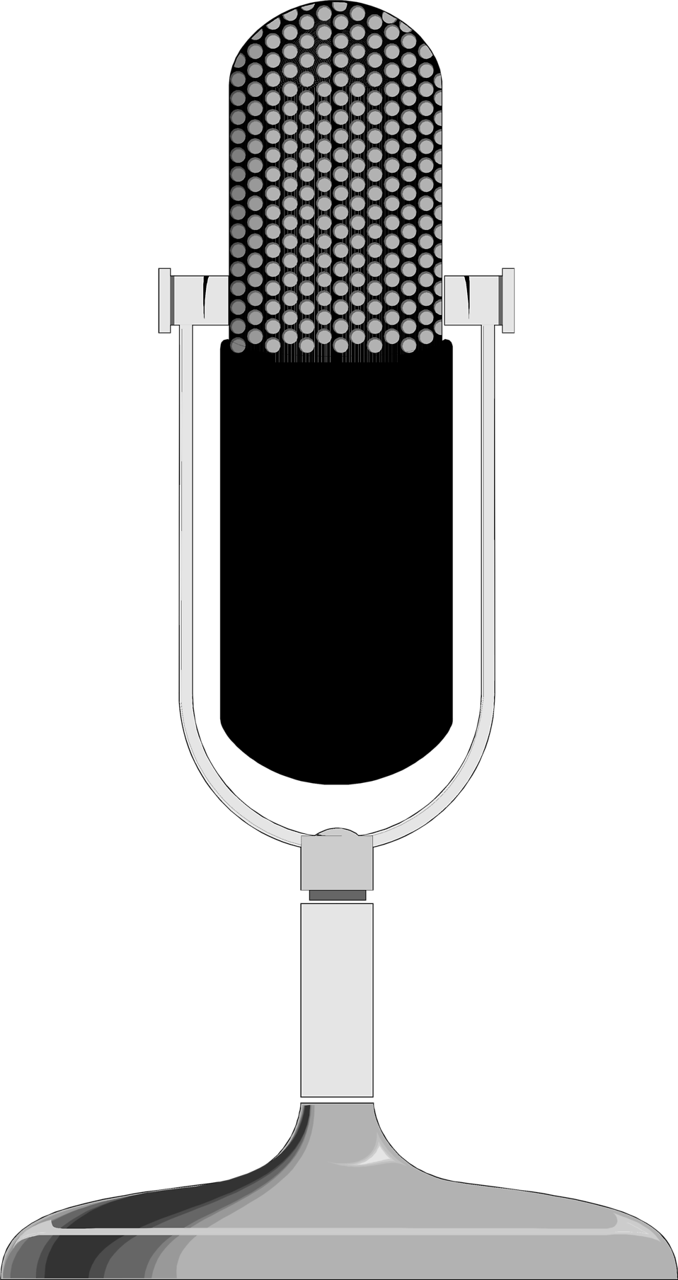 Microphone clipart stage microphone. Free stock photo illustration