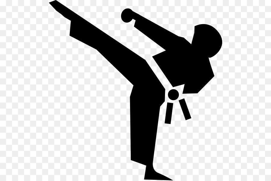 Martial arts kick clip. Karate clipart