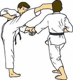Karate clipart. Athlete running athlet royalty