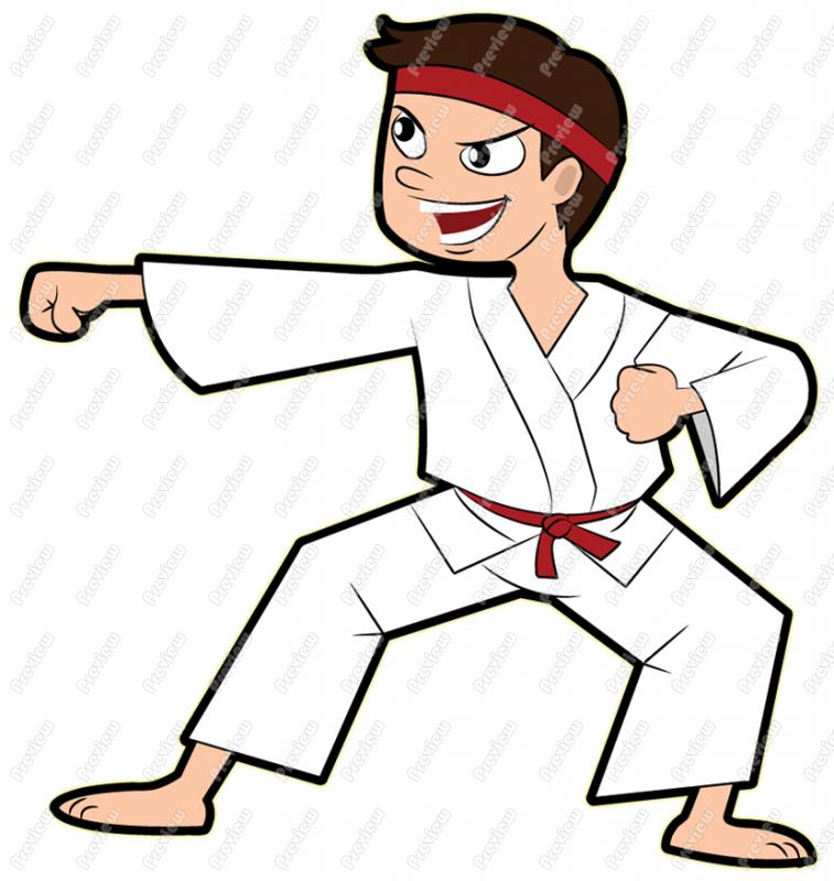 Cartoon . Karate clipart