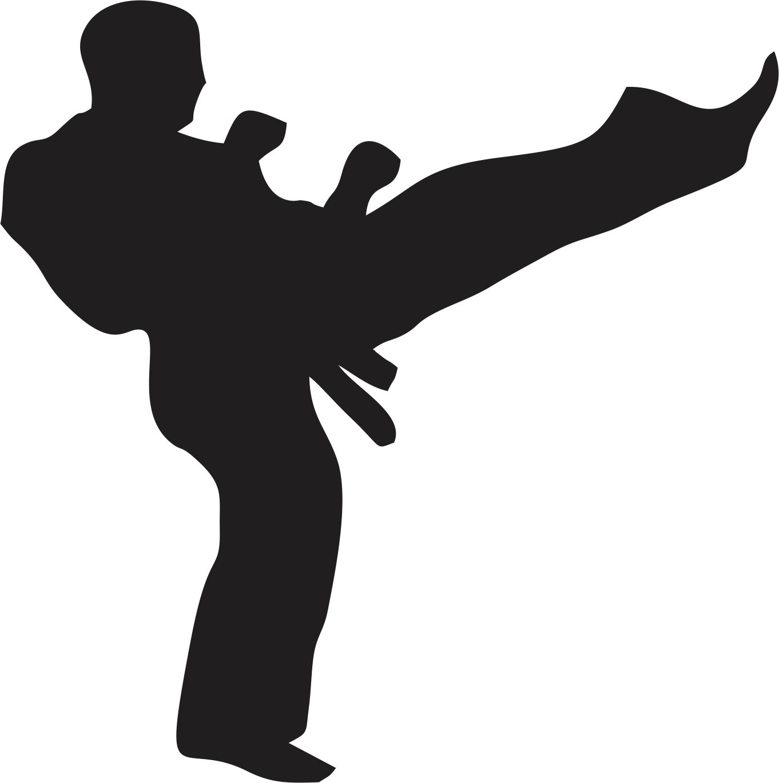 V i martial arts. Karate clipart black and white