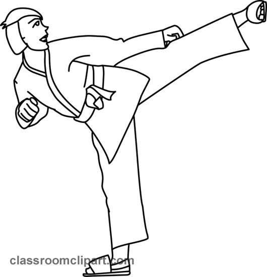 Karate clipart black and white. Free download clip art