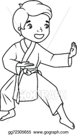 Karate clipart black and white. Station