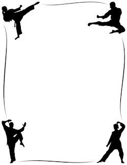 Karate clipart border. Pin on frames borders
