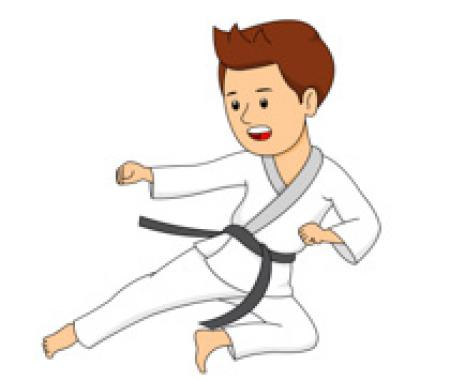 Free download on webstockreview. Karate clipart individual sport