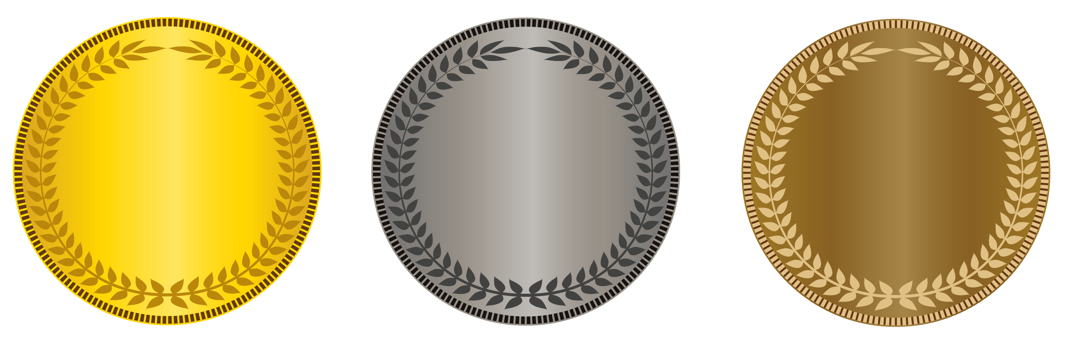Transparent gold silver bronze. Karate clipart medal