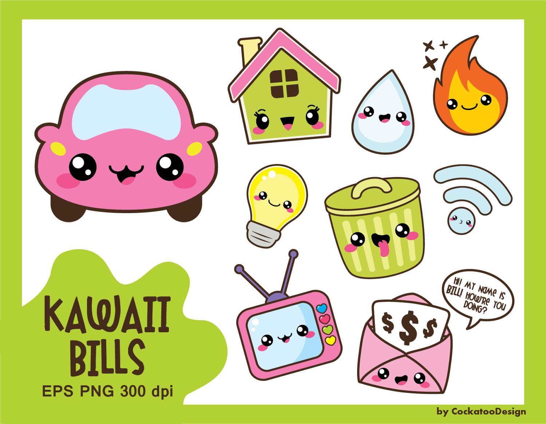 Kawaii clipart.  off clip art