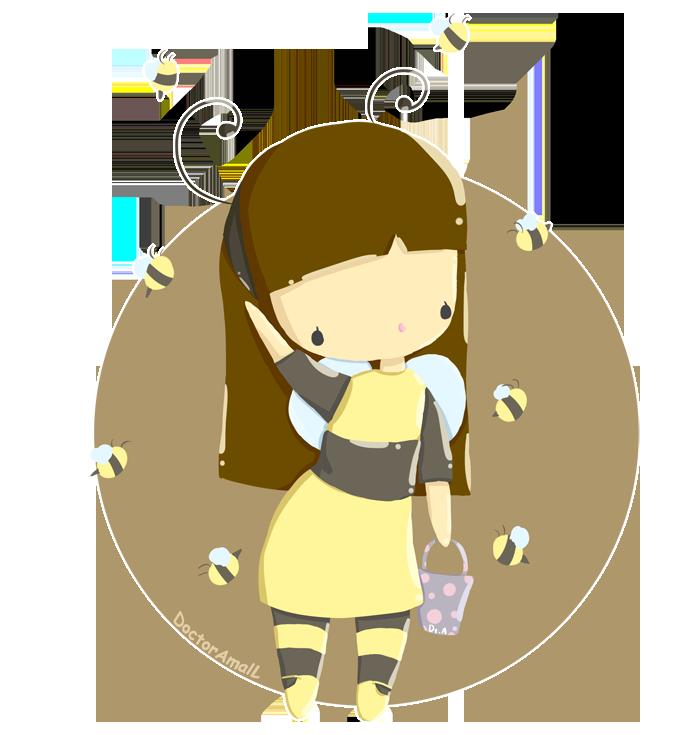 Cute girl by doctoramall. Kawaii clipart bee