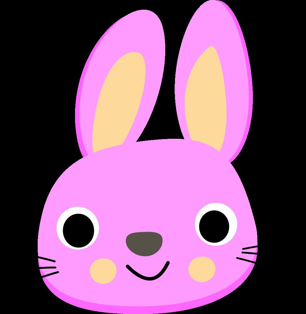 Kawaii clipart bunny. Onlinelabels clip art pink