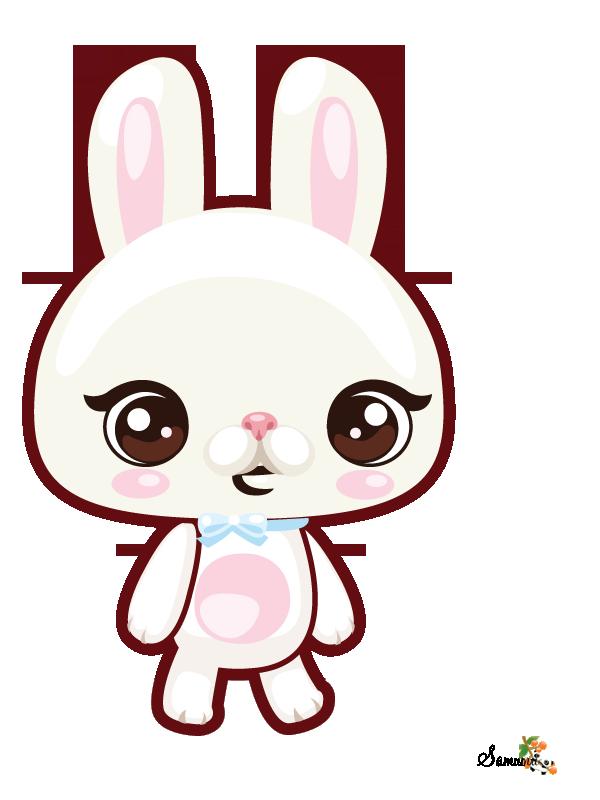 Buscar con google pinterest. Kawaii clipart bunny