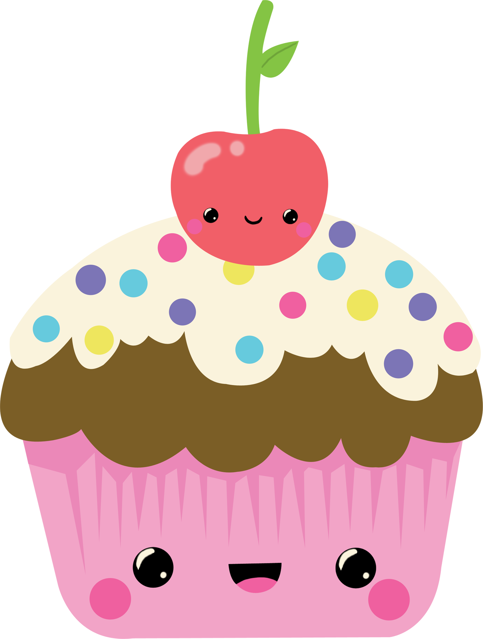 Kawaii clipart dessert. Cupkakr album on imgur