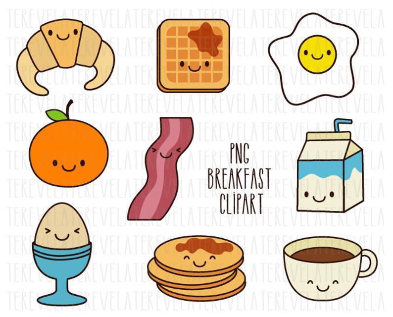 Breakfast food kawaii commercial. Waffle clipart cute