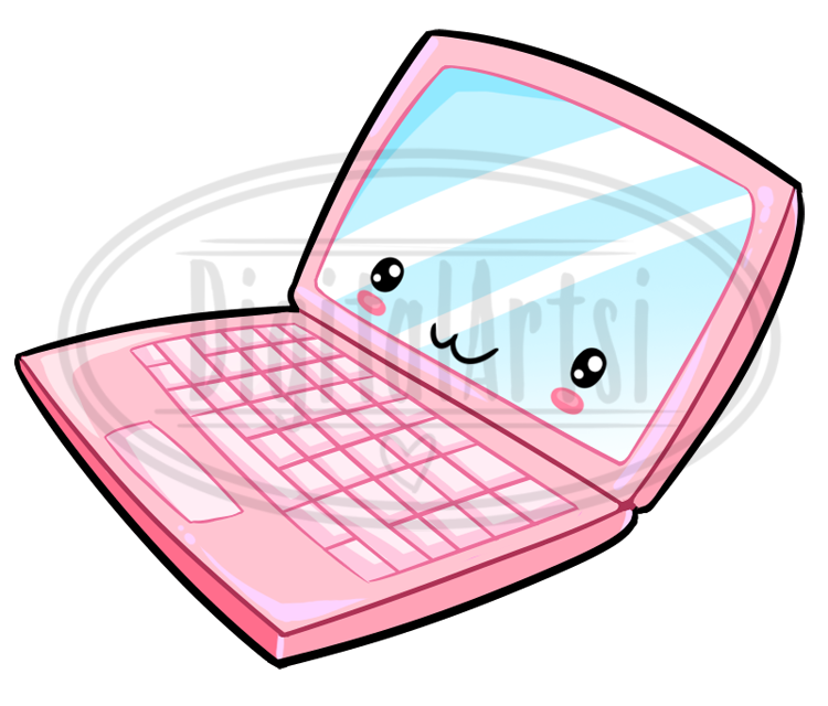 . Kawaii clipart laptop