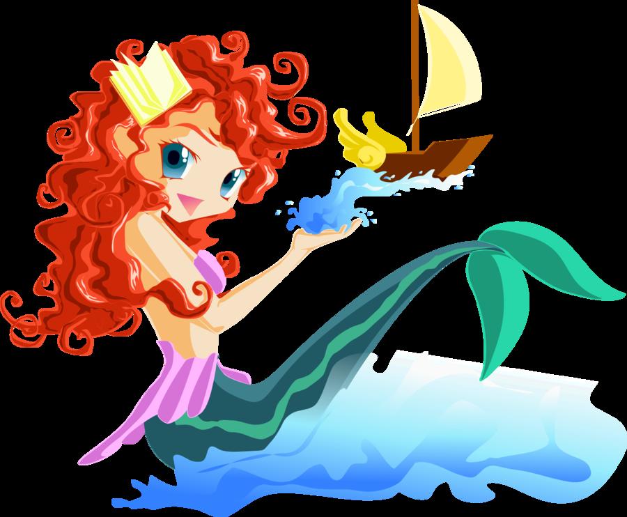 Kawaii clipart mermaid. La petite sirene by