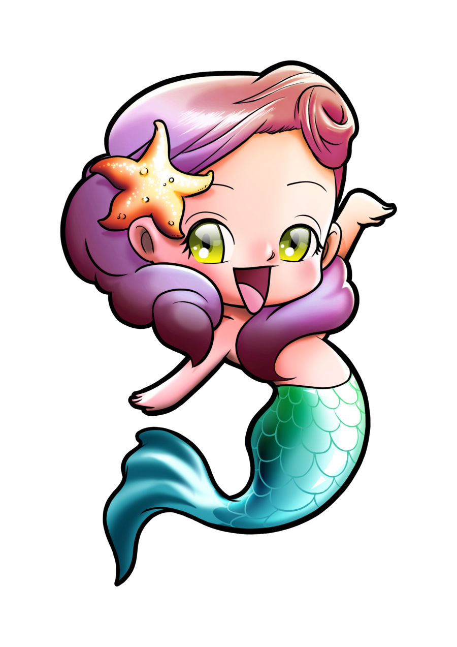 Kawaii clipart mermaid. Pin by herugliness on