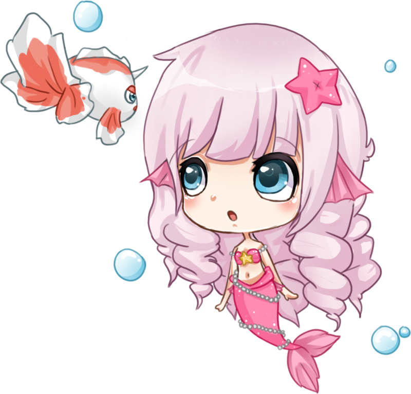 Kawaii clipart mermaid. By pawnawn on deviantart