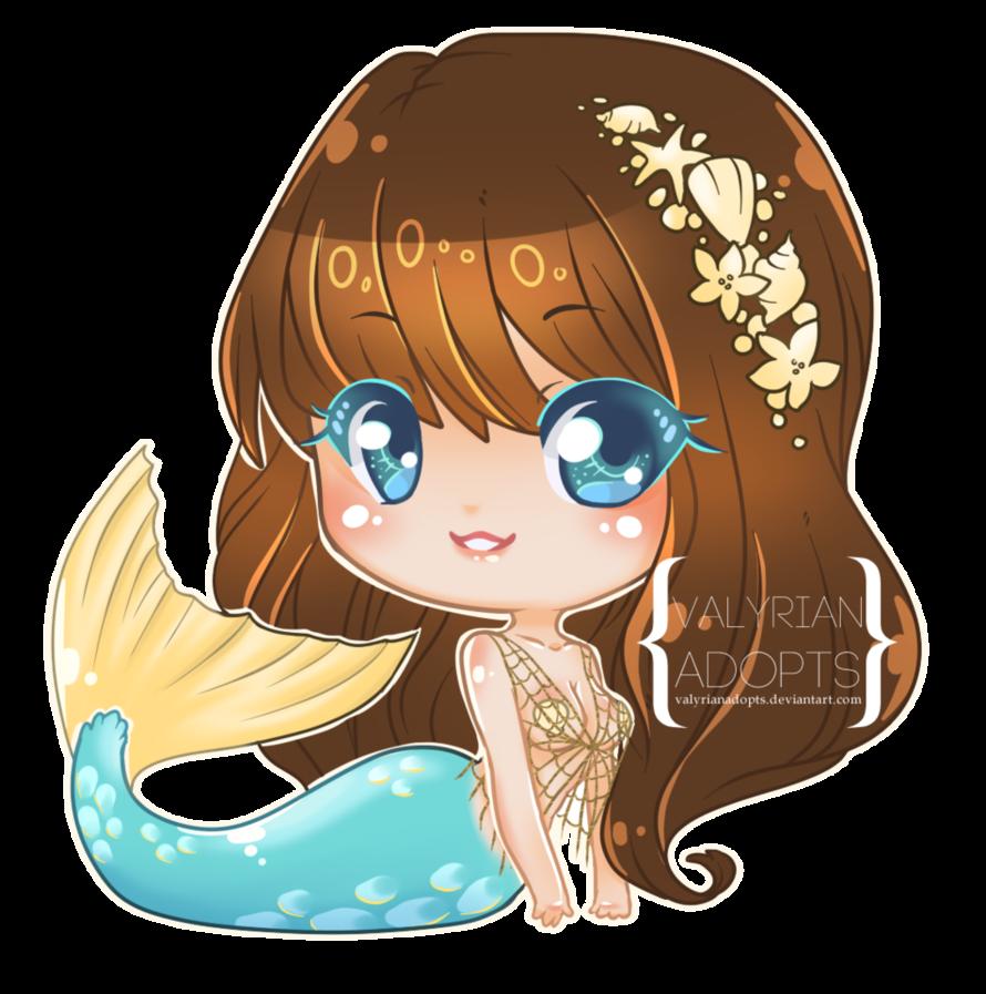 C ripple chibi by. Kawaii clipart mermaid