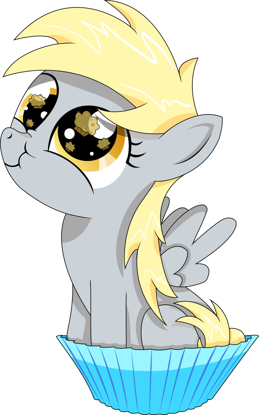 Image my little pony. Muffin clipart kawaii