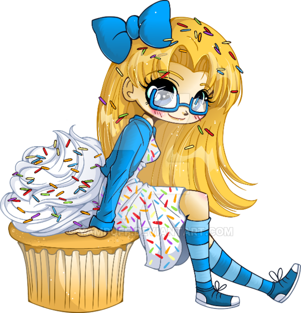 Very vanilla cupcake girl. Youtube clipart kawaii