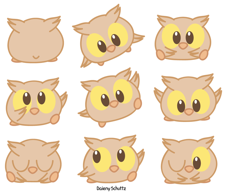 Parrot clipart chibi. Owl by daieny on