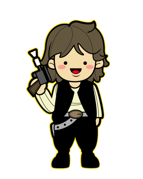 Starwars clipart simple. Star wars kawaii saga