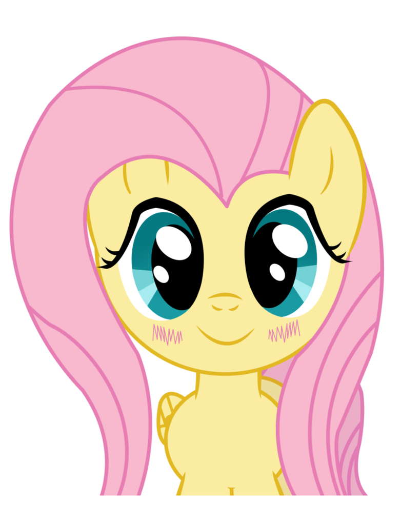 Fluttershy by vocapony on. Television clipart kawaii
