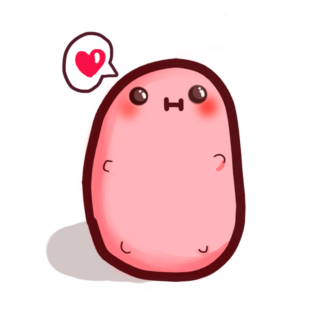 Potato clipart cutie. Kawaii love cute kawaiicute